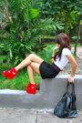 White-anthology-shirt-gucci-black-h-m-skirt-red-topshop-black-forever-21