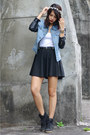 Light-blue-leather-sleeved-stylehunterph-jacket-black-sneaker-topshop-wedges