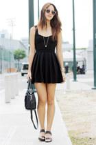 pink Sunnies By Charlie sunglasses - black Topshop dress - black Cole Haan bag