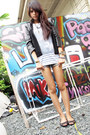 Black-leather-coexist-jacket-denim-random-from-hong-kong-shorts-white-stripe