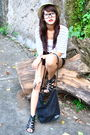 Beige-zara-white-cardigan-white-black-forever-21-belt-black-mango-shorts