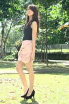 black Forever 21 - light pink Forever 21 skirt - black Forever 21 necklace - bla