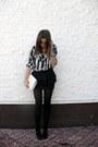 Vintage-shirt-vintage-bag-h-m-heels-zara-skirt