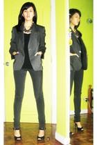 Zara top - Zara blazer - Lee jeans - Elegance shoes