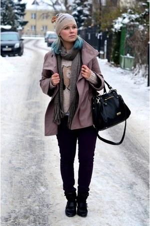 Zara coat - Steve Madden bag