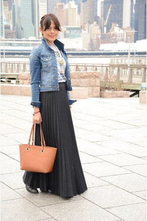 black Unknow skirt - navy Forever21 jacket
