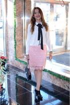 Forever 21 skirt - black Macys boots