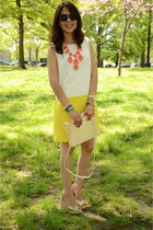 yellow Forever 21 dress - cream Urban Outfitters bag