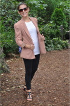 salmon Forever 21 blazer - black Forever 21 leggings