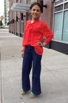 Forever 21 blouse - TJMaxx jeans