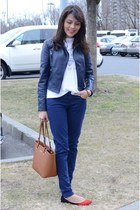 blue Target pants - navy Forever21 jacket - tawny calvin klein bag