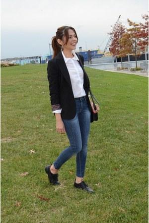 navy Zara jeans - black Forever 21 blazer