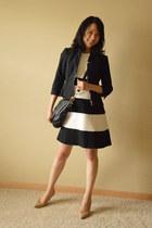 white ann taylor dress - black White House Black Market jacket