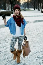 Timberland boots - Mustang jacket - Zara bag