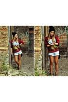glovestarpl hat - Mango bag - Mustang shorts - uhmanyway sweatshirt