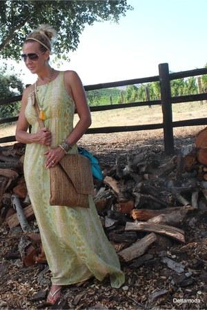 Adesso bracelet - Bar III dress - Corkdesign purse - Stella McCartney sunglasses