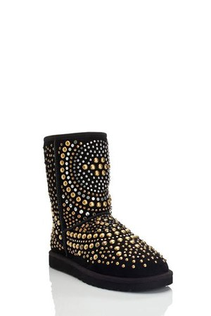 black Jimmy Choo UGG boots