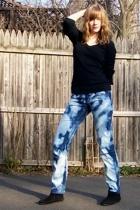 DIY jeans - Minnetonka boots