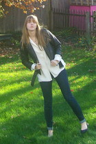 delias jacket - thrift blouse - Nine West shoes