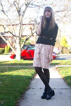 pink 2nd Hand dress - blue vera wang x kohls shoes