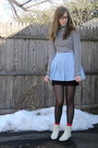 Black-f21-shirt-blue-handmedown-from-mom-skirt-black-2nd-hand-skirt-black-