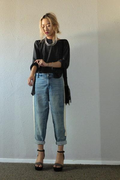 light blue rag & bone jeans - yellow 10 Crosby bag