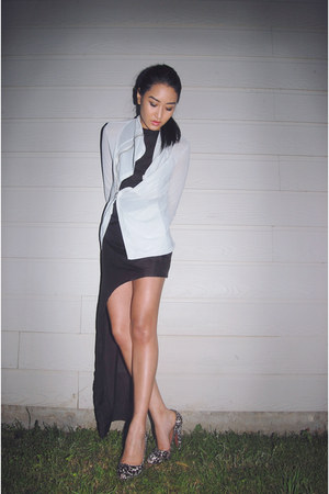Rick Owens jacket - DIY dress - Azzedine Alaia pumps