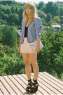 Light-purple-vintage-blazer-light-pink-h-m-bag-light-pink-scalloped-h-m-shor