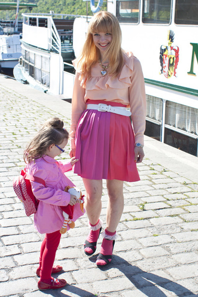 H&M skirt - American Apparel socks - H&M sandals - H&M blouse