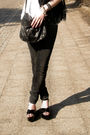 Black-glasses-black-scarf-white-t-shirt-black-jeans-black-shoes-black-