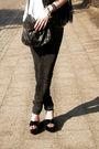 Black-glasses-black-scarf-white-t-shirt-black-jeans-black-shoes-black-
