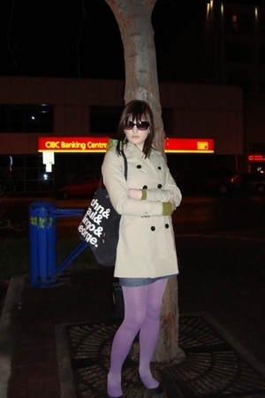 Jacob jacket - American Eagle skirt - American Apparel tights - le chateau shoes