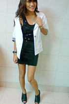 black Tomato dress - Primadonna shoes - from greenhills blazer - H&M accessories