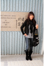 H&M scarf - Janylin boots