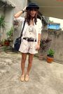 White-romper-from-greenhills-shorts-white-thrifted-shirt-beige-from-friend-s