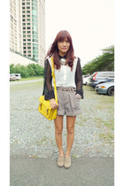 white sheer What A Girl Wants shirt - yellow satchel fashionstopshop bag