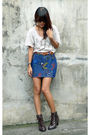 Gray-thrifted-shirt-blue-buy-from-archiveclothingmultiplycom-skirt-brown-eba