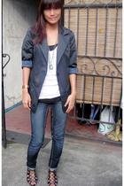 American Apparel shirt - Penshoppe jeans