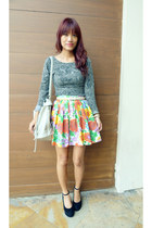 orange shopdonata skirt - heather gray used as top Fornari dress
