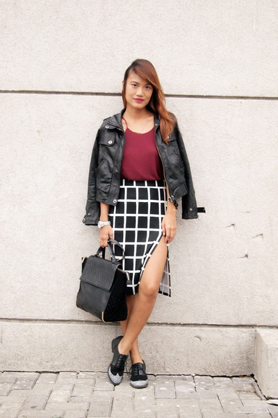 black Zoo Shop skirt - black michael antonio shoes - black Zara bag