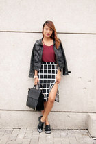 black Zoo Shop skirt - black michael antonio shoes - black Zara bag