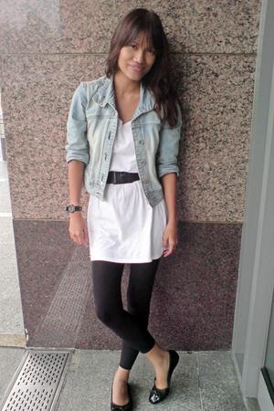 thrifted jacket - Topshop dress - prp belt - CMG shoes