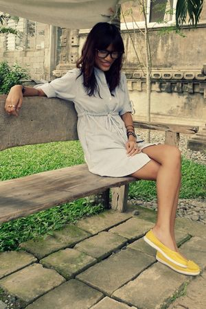 blue from friend dress - yellow Greenhills shoes