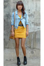 Blue-random-from-hk-jacket-yellow-vintage-altered-dress-brown-thrifted-bag-a