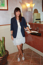 dress - blazer - daintyshopmultiplycom shoes - wallet
