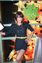 black depaigemultiplycom dress - Primadonna shoes - babo necklace - Vintage bag