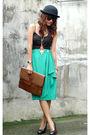 Black-random-brand-top-green-archiveclothingmultiplycom-skirt-black-daintysh
