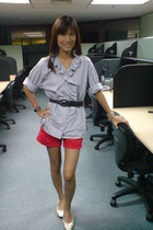 thrifted top - Bayo shorts - thrifted belt - CMG shoes - from Thailand bracelet