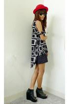 white stubborn eve top - black Pink Manila skirt - black bought online shoes - r