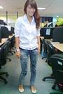 White-zara-top-acid-wash-distressed-jeans-vivienne-westwood-for-melissa-shoe